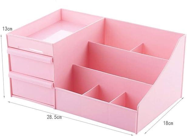 Organizadores de maquillaje Caja de almacenamiento de plástico Cajones de maquillaje Caja de organizador Contenedor de joyas Estuche Estuche Cajas de oficina de cosméticos Cajas de contenedor de maqui: Amazon.es: Hogar