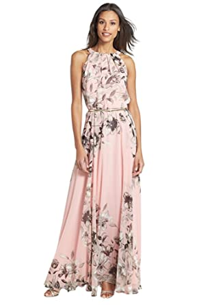 Miss Floral® Womens Sleeveless Floral Print Summer Maxi Dress Size 6-14