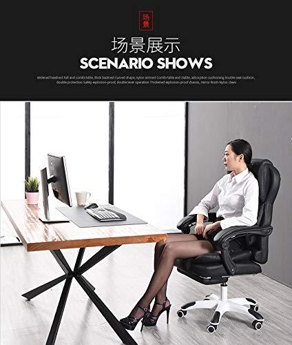 JINGXIANG kontorsstol ergonomisk datorspelstol internetcafé vilstol kontorsstolar (färg: Brun inget fotstöd) Red With Footrest