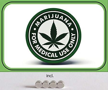 Generisch Cartel de Chapa de 20 x 30 cm, Curvado, Incluye 4 imanes de Cannabis Marihuana, tiburón para Uso médico, Solo Metal, decoración de Regalo