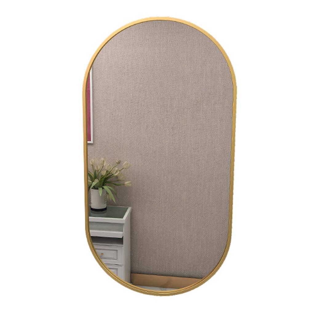 Specchio Bagno ellittico Specchio a Parete Cornice in Metallo Dorato Soggiorno Moderno Camera da Letto Vanity Specchi a Parete Specchi concisi Specchi da Prua Corridoio