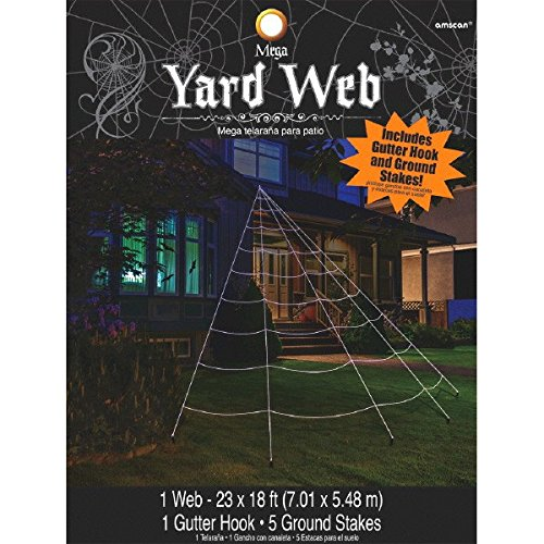 Halloween Trick or Treat Spider Web Yard Set Party Outdoor Decoration, Nylon, Pack of 7 (Spider Web Decorations)