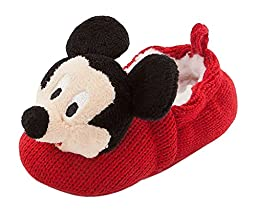 Disney Store Mickey Mouse Plush Slippers Shoes Size 18 - 24 Months 2T 2 years Crochet