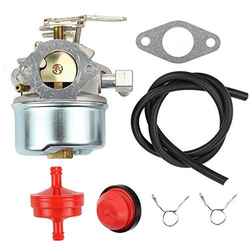 Hilom 640084B Carburetor for TECUMSEH 5HP MTD 632107A 632107 640084A TORO 521 Snow Blower HSSK40 HSSK50 HS50 LH195SA Carb with Primer Bulb & Fuel Line Filter