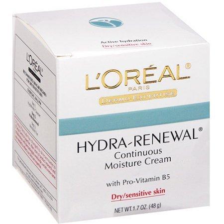 L'Oreal Paris Hydra-Renewal Continuous Moisture Cream, 1.7 (Hydra Renewal Continuous Moisture Cream)