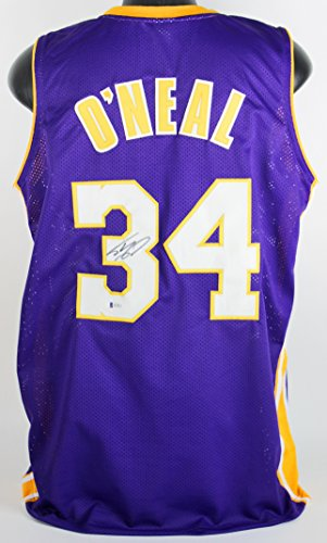 dad8bc4ae31 Lakers Shaquille O'Neal Authentic Signed On #3 Purple Jersey Autographed BAS