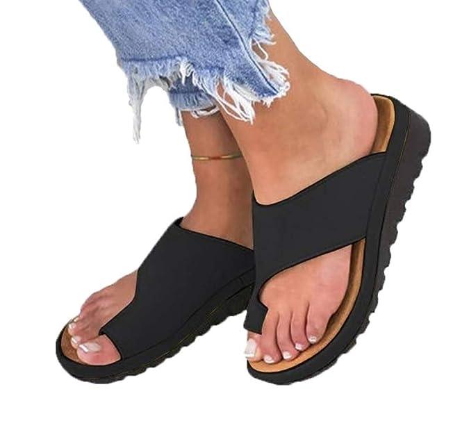 AARDIMI Sandalen Damen Frauen Flip Flops Kreuzband Geflochtene Sandalen Roman Schuhe Sommer Woven Strap Mode Strand Hausschuh