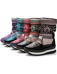 Girl's Winter Fur Lining Cozy Warm Waterproof Snow Boots
