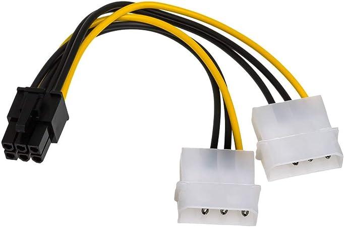 AKYGA AK-CA-30 6 Pines, 15 cm Cable Adaptador SATA a PCI-E