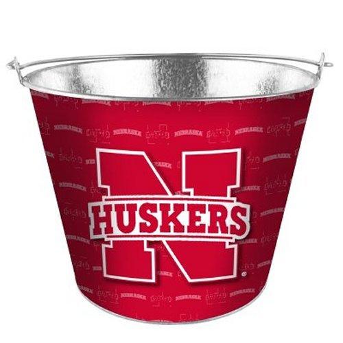 NCAA Nebraska - Tonal Color Metal Beer Bucket | Nebraska Cornhuskers 5 Quart Ice Pail