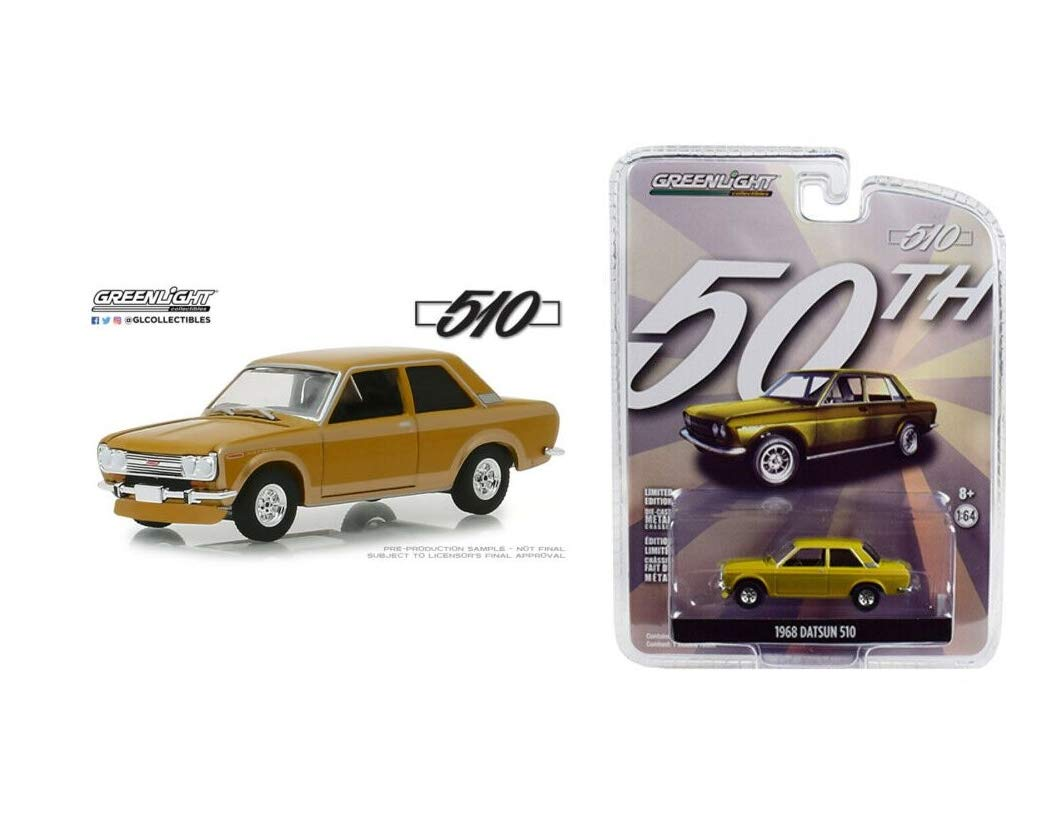 1:64 Love Gift Anniversary Collection Gold 1968 Datsun 510 NIP Rare Diecast Vehicle Toy