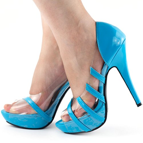 Show Story - punta abierta mujer azul - azul