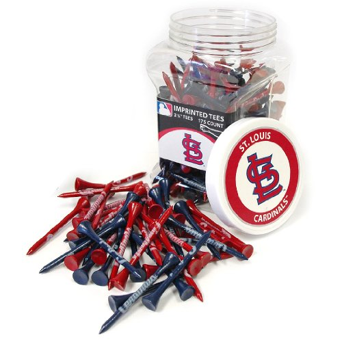 Team Golf MLB St Louis Cardinals 2-3/4 Golf Tees, 175 Pack, Regulation Size, Multi Team Colors