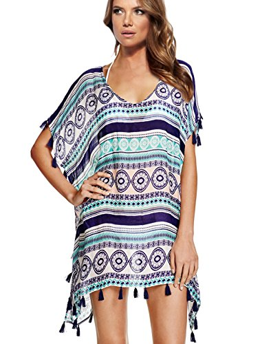 Wander Agio Womens Cover up Bohemia Swimsuit Beach Bikini Coverups Mix Color
