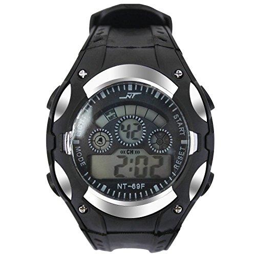 Christmas Deal Alike A1052 Sport Watch Good Price High Quality Multifuntion Alarm Week Date Chronograph Digital Quartz Wristwatches (Silver) (Calendar Digital Wrist Watch)
