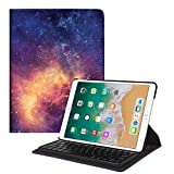 Fintie iPad Pro 10.5 Keyboard Case - 360 Degree Rotating Stand Cover with Built-in Wireless Bluetooth Keyboard for Apple iPad Pro 10.5 Inch 2017 Tablet - Galaxy
