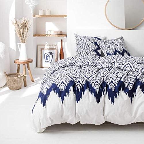 Serie Cyclades f/ür Doppelbett J/&K Markets Bettbezug Milos 100 /% Baumwolle 220 x 240 cm Wei/ß//Blau limitierte Edition