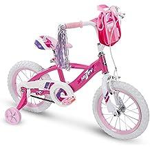 Huffy Glimmer Girls Bike 12,14,16,18in w/ Streamers, Training Wheels and Handlebar Basket