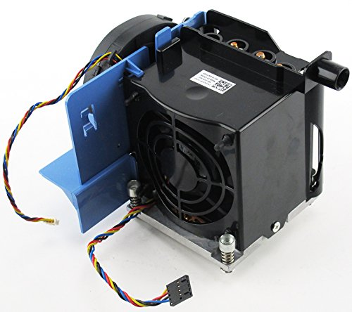 New Genuine OEM DELL Precision T5500 Desktop 2nd CPU Internal Cool Copper Processor Blower Housing Temperature Control Plastic Shroud Power Cable Attachment Bracket Assembly Performance W567F F306F Heatsink W715F Shroud by Dell (Image #4)