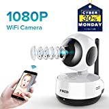 Cheap FREDI Wireless 1080P IP Baby Pet Monitor Camera WiFi Camera with Two-Way Function,Infrared Night Vision,Pan Tilt,P2P WPS Ir-Cut Nanny IP Camera Motion Detection Support 128GB sd Card(not Include)