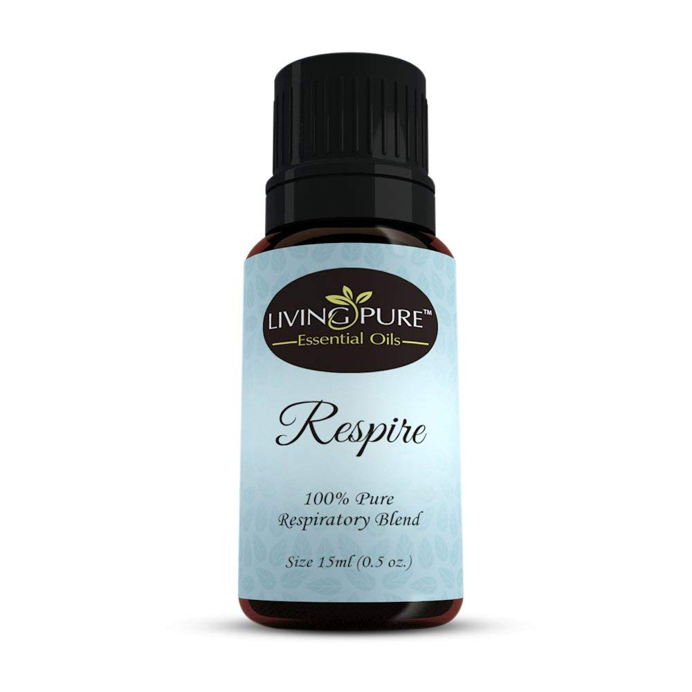 #1 Respiratory Essential Oil & Sinus Relief Blend - Supports Allergy Relief, Breathing, Congestion Relief, & Respiratory Function - 100% Organic Therapeutic & Aromatherapy Grade - 15ml Living Pure Essential Oils