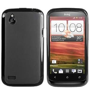 Mumbi - Carcasa de silicona y TPU para HTC Desire X, color negro