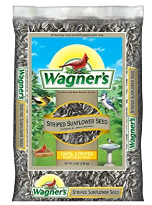 Wagner's 62028 Striped Sunflower Seed, 5-Pound Bag from Wagners