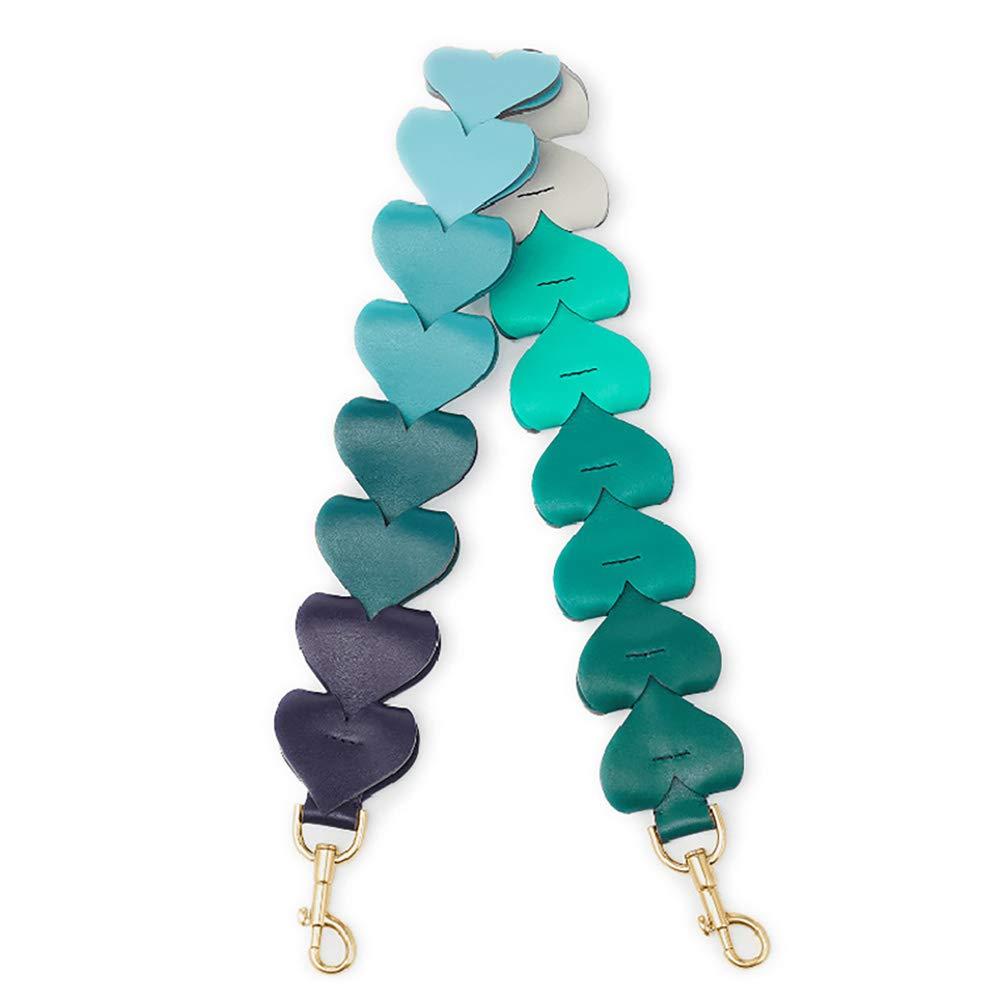 VAKAER Heart Shaped Purse Straps Replacement Multicolor Handle bags Strap Shoulder Bag Belts (multicolor 03)