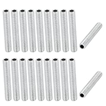 uxcell® 20Pcs M6 1mm Pitch Threaded Zinc Plated Pipe Nipple Lamp Parts 40mm Long