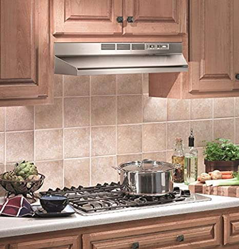 Amazon.com: Broan 413004 ADA Capable Non Ducted Under Cabinet Range Hood,  30 Inch, Stainless Steel: Appliances