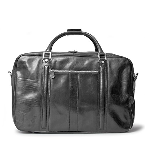 Maxwell Scott Luxury Black Leather Suitcase Bag for Men (The Maurizio) by Maxwell Scott Bags (Image #4)