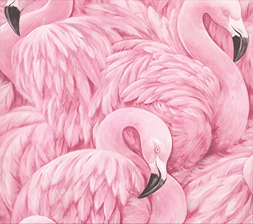 Advantage 2814-803211 Horace Pink Flamingos Wallpaper (Whimsical Pink Flamingo)