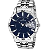 Eddy Hager Blue Round Dial Day And Date Display Men's Watch Eh-238-Bl