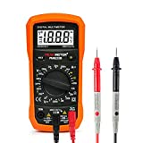 Digital Multimeter, USCVIS MS8233A 2000 Counts Auto Ranging Digital Multimeters Digital Multi Tester, Measures Voltage Tester, Current, Resistance, Continuity, Frequency, Transistors.