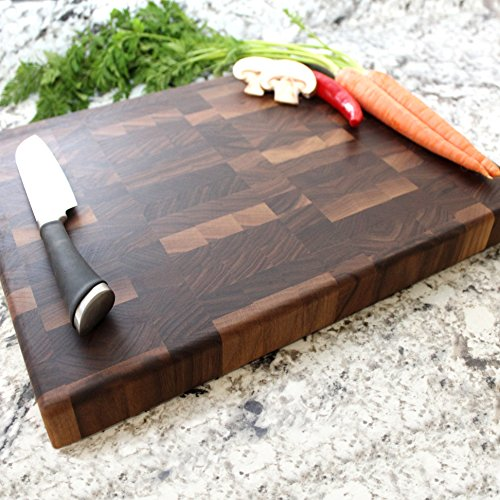 End Grain Walnut Chopping Block - Engraved Cutting Board, Custom Cutting Board, Wedding Gift, Housewarming Gift, Anniversary Gift, Engagement W-053GB