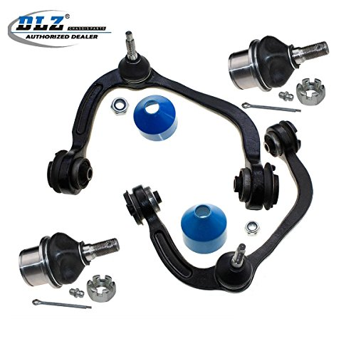 DLZ 4 Pcs Front Suspension Kit-2 Upper Control Arm Ball Joint Assembly 2 Lower Ball Joints Compatible with 2004 2005 2006 2007 2008 Ford F150 2006 2007 2008 Lincoln Mark -