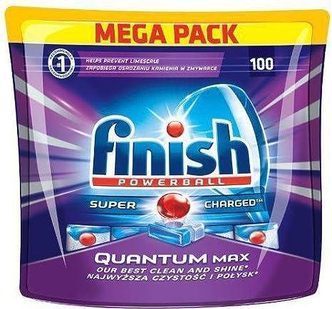 Finish Quantum, Pastillas para lavavajillas, Pack de Ahorro, 72 ...