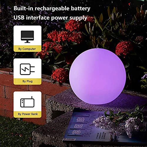 GoZheec LED Globe Night Light 6/'/' Mood Lamp Colour Changing Ball Light IP65 lamp