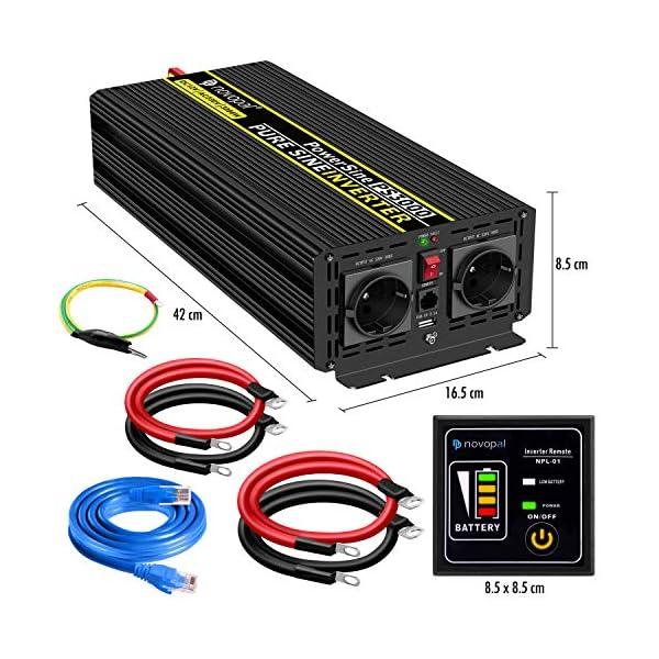 51qgLagr98L 3000W KFZ Reiner Sinus Spannungswandler - Auto Wechselrichter 12v auf 230v Umwandler - Inverter Konverter mit 2 EU…