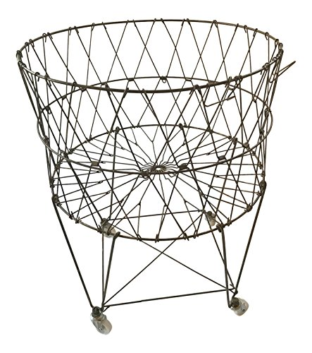 production Collapsible Rolling Metal Laundry Basket (Collapsible Wire Baskets)