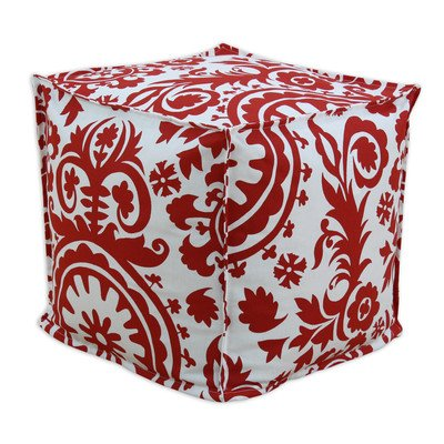 Chooty & CO Suzani Lipstick Seamed Beads Hassock, 17 by 17 by 17-Inch