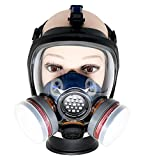 PD-100 Full Face Respirator by Parcil Distribution. 1 Year Factory Guarantee. Double Air Filter, Eye Protection, Gas Mask - Industrial Grade Quality