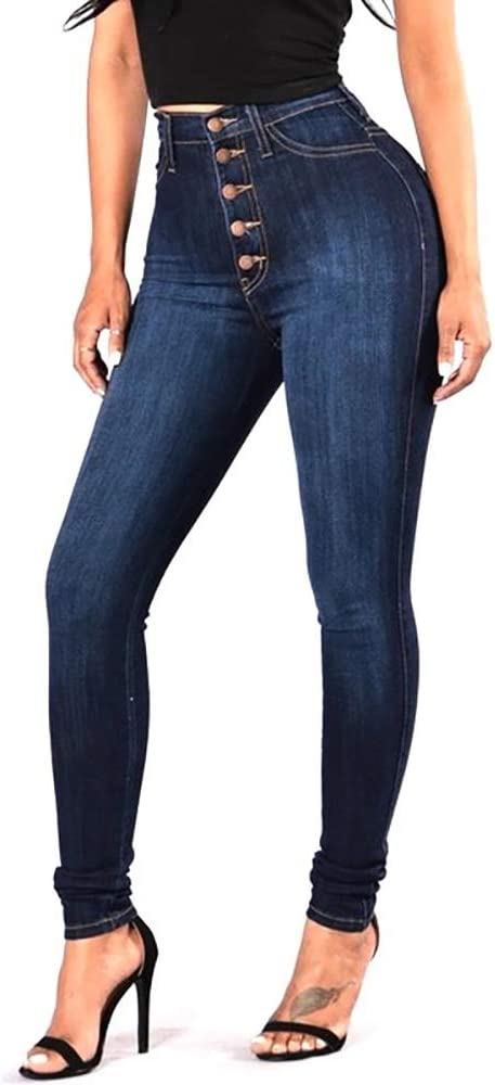 Pantalones Vaqueros Skinny De Mujer Cintura Alta Elasticos Vaqueros Levanta Cola Amazon Com Mx Ropa Zapatos Y Accesorios