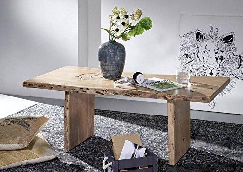nouveau style 95aed 4cbb3 Table basse 120x60cm - Bois massif d'acacia laqué - Design ...