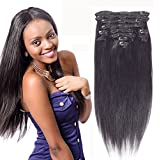 Fairgreat Remy Human Hair Clip in Hair Extensions Real Human Hair 10 pieces Silky Straight Weft Remy Hair