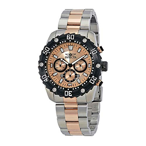 Invicta Men's Pro Diver Quartz Watch with Stainless-Steel Strap, Two Tone, 24 (Model: 22520)