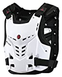 CRAZY AL'S CAM05 Body Armor Professional Motorcycle Motocross Racing Chest and Back Protector Motobike Bicycle Cycling Riding Motocross Gear Black White M/L/XL (White, L)