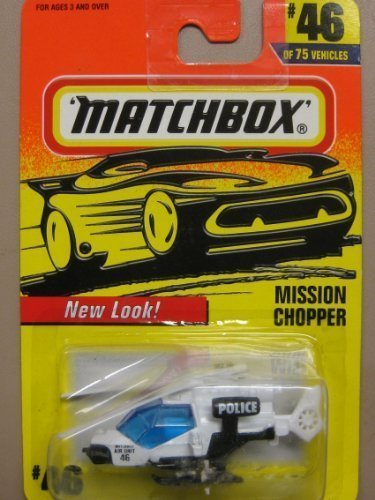 Matchbox 1993 - Tyco Toys Inc Moving Parts - #46 - Military Chopper / Desert Camo - Mission Helicopter - MOC - Out of Production - Limited Edition - Collectible - Limited Desert Camo