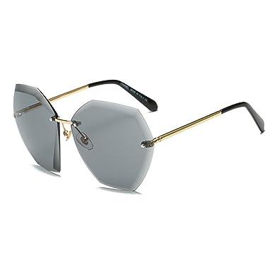 44ce76dfc81c74 Stylische Ohne Rahmen Sonnenbrille UV 400 Schutz Sommer Eckig Brille  Polarisiert Elegant Damen Herren