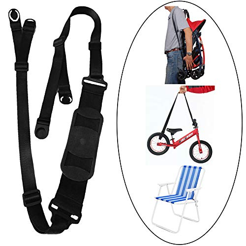 (SZATS Adjustable Shoulder Kick Scooter Strap, Kids Bike Carrying Strap, Beach Chair Carry Strap and Carry Straps for Folding Chairs)